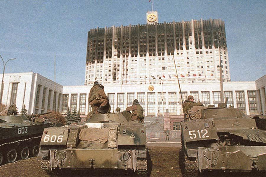 Расстрел Верховного совета. Москва. Октябрь 1993 года.