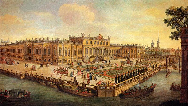 Летний дворец Елизаветы Петровны. Именно в этом дворце 20 сентября 1754 года родился Павел Первый. Дворец построен Растрелли в 1741—1744 годах,  служилимператорской резиденцией в Санкт-Петербурге. Снесён в 1797 году. На его месте император Павел построил Михайловский (Инженерный) замок, где и был убит 12 марта 1801 года.