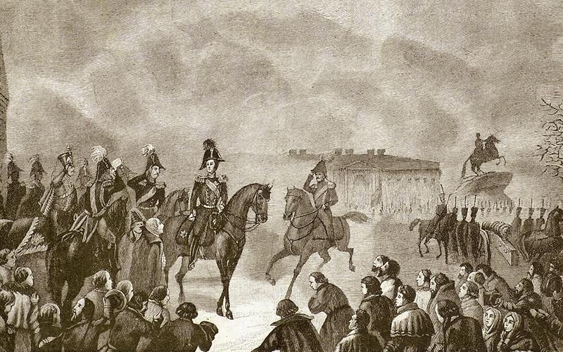 Будущий император Николай Первый на Сенатской площади 14 декабря 1825 года